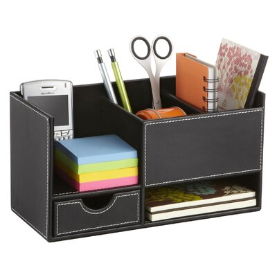 Safco Products Company Leather Look Desktop Supply Organizer
