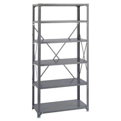 Safco Products Company 6 Shelf Commercial Steel Shelving in Dark Gray