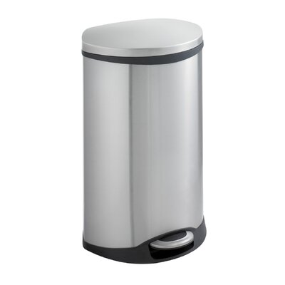 Safco Products Company Ellipse Step-On 12.5 Gallon Trash Receptacle