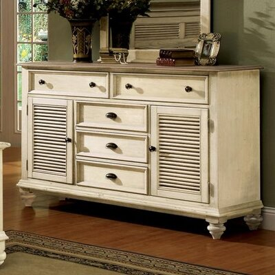 Riverside Furniture Coventry Two Tone Shutter Door Combo Dresser