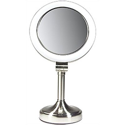 Zadro Dimmable Sunlight Makeup Mirror in Satin Nickel