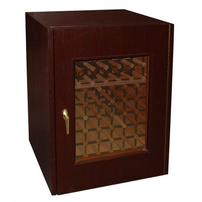 Single Door Oak Wine Cooler with Double Pane Window