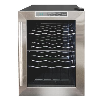 Vinotemp VT-12 Thermoelectric Wine Cooler with Stainless Trim
