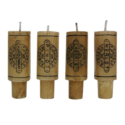 Vinotemp Epicureanist Wine Cork Candles (Set of 4)