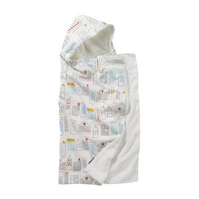 DwellStudio Skyline Hooded Towel in Light Blue