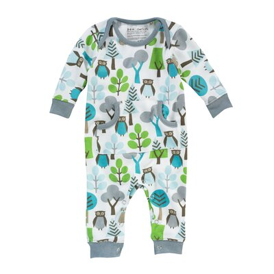 DwellStudio Owls Boy's Playsuit in Sky