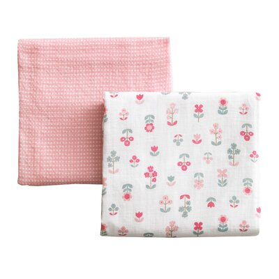 DwellStudio Rosette Blossom Swaddle Blanket Pack of Two