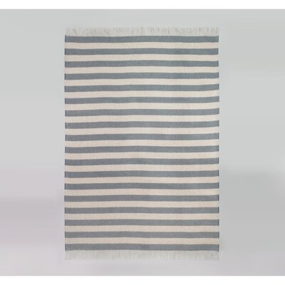DwellStudio Draper Stripe Chinois Blue Throw