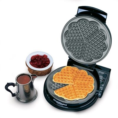 Chef's Choice International WafflePro Taste / Texture Select Traditional &quot;Five-of-Hearts&quot;