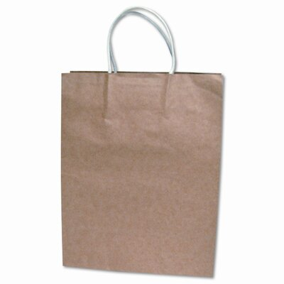 Consolidated Stamp Premium Large Brown Paper Shopping Bag, 50 per Pack