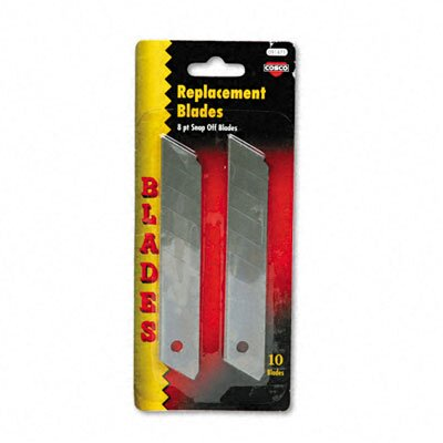 Cosco Home and Office Snap Blade Utility Knife Replacement Blades, 10 per Pack