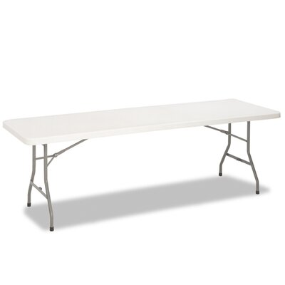 Cosco Home and Office Blow Molded Folding Table, 30w x 72d x 29-1/4, White