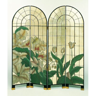 White Floral Arched Room Divider