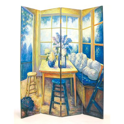 Wayborn The Den 4 Panel Distressed Room Divider
