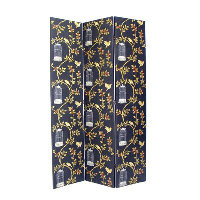 Birdcase 3 Panel Distressed Room Divider