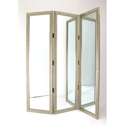 "Wayborn 72"" Full Size Dressing Room Divider in Silver"