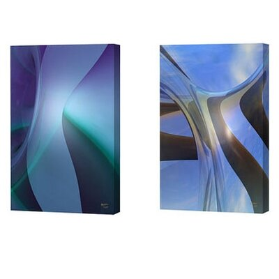 Menaul Fine Art Skyware and Sophie Blue Limited Edition Canvas - Scott J. Menaul (Set of 2)
