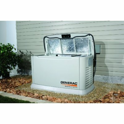 Generac 14 Kw Air-Cooled Single Phase 120/140 V Standby Generator with Transfer Switch