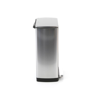 simplehuman Rectangular Step Trash Can in Brushed Stainless Steel