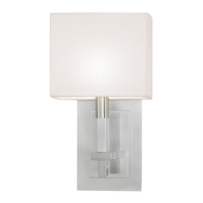 "Sonneman Montana 13"" One Light Wall Sconce in Satin Nickel"