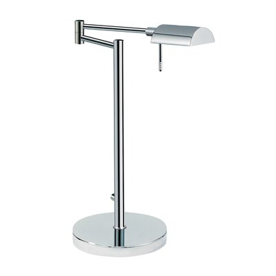 Sonneman D Lite One Light Table Lamp in Polished Chrome