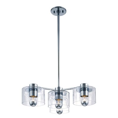 Sonneman Transparence 4 Light Cluster Foyer Pendant
