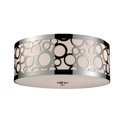Elk Lighting Retrovia 3 Light Flush Mount