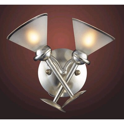 Elk Lighting Martini Glass  Wall Sconce in Silver Leaf