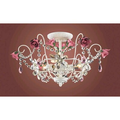 Elk Lighting Mary-Kate and Ashley Rosavita Semi Flush Mount
