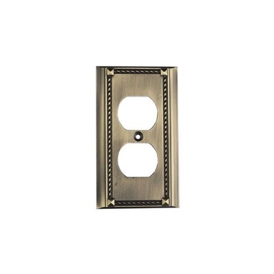 Elk Lighting Clickplates Single Socket Plate in Antique Brass