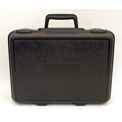Blow Molded Case with Padlock in Black: 11 x 15 x 4.38