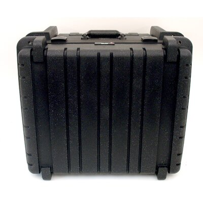 Platt Rotational Molded Tool Case with Wheels and Telescoping Handle in Black: 17.25 x 19.5 x 12.5