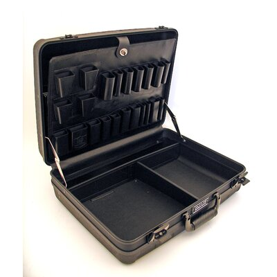 Platt Deluxe Polypropylene Tool Case in Black: 13 x 18 x 5