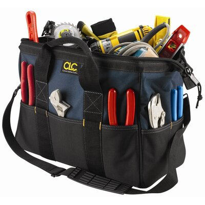 "Platt CLC Tool Bag: 22 Pocket - 16"" Large BigMouth Bag: 10"" H x 16"" W x  8 1/2"" D"