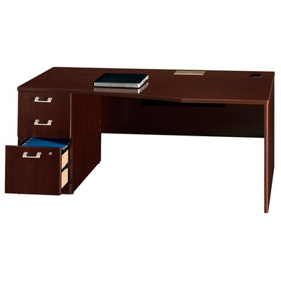 "Bush Industries Quantum Series - 72"" Left Hand Desk with Pedestal"