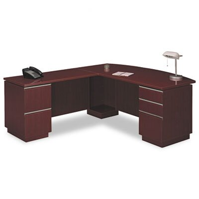 Bush Industries Milano 2 Right L-Desk with Full Pedestal