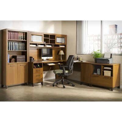 Bush Industries Achieve L-Shaped Desk Office Suite