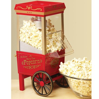 Nostalgia Electrics Old Fashioned 3.5 Ounce Movietime Hot Air Popcorn Maker
