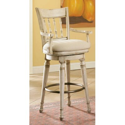 Hooker Furniture Summerglen Swivel Bar Stool in White