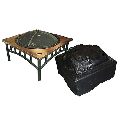 Fire Sense Low/Square Fire Pit Vinyl Cover