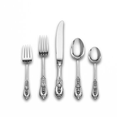 Rose Point 66 Piece Dinner Flatware Set Cream Soup Spoon