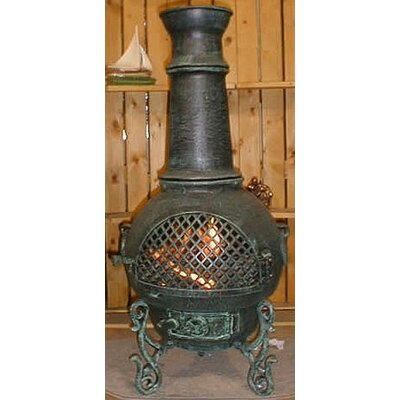 The Blue Rooster Gatsby Style Chiminea with Gas Kit