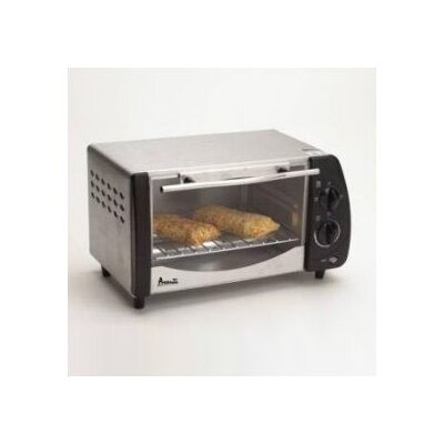 Avanti Products 4- Slice Stainless Steel Toaster Oven w/ Broiler