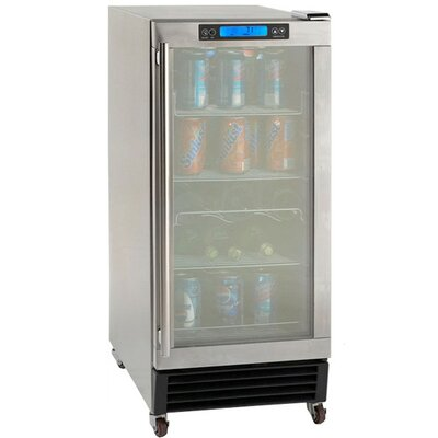3.2 cu. ft. Built-In Outdoor Refrigerator with Glass Door