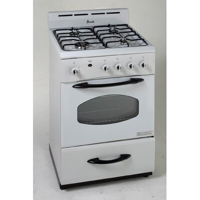 "Avanti Products 24"" Gas Range, White"