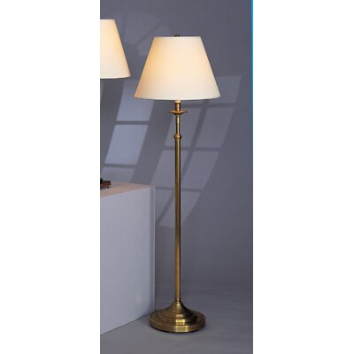 Robert Abbey Kintetic Floor Lamp in Antique Natural Brass with Ascot Bone Fabric Shade