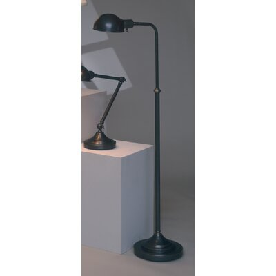 Robert Abbey Kinetic Pharmacy Floor Lamp in Deep Patina Bronze