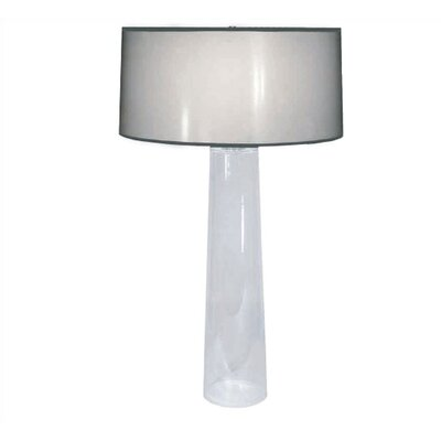 Robert Abbey Rico Espinet  Olinda Table Lamp with Black Organza Fabric Shade