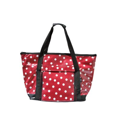 Polka Dot Picnic Tote in Red and White