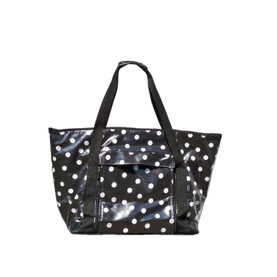 Polka Dot Picnic Tote in Black and White